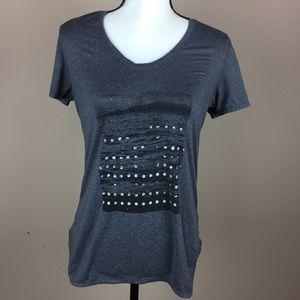 LULULEMON | graphic athletic top t-shirt ruching 6